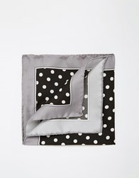 Noose And Monkey Italian Silk Pocket Square With Spot Black