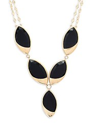Lana Black Onyx And 14K Yellow Gold Marquis Necklace
