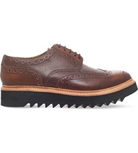 Grenson Archie Leather Wedge Brogues Tan
