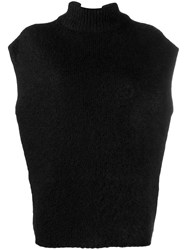 Emporio Armani Knitted Top Black