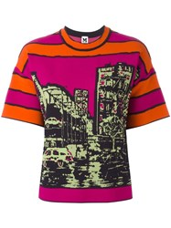 M Missoni Printed T Shirt Pink Purple