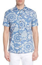 Kahala Duke's Pareo Trim Fit Sport Shirt Wave