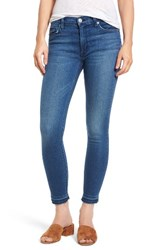 Hudson Jeans Women's Barbara High Waist Ankle Super Skinny Blue Riot
