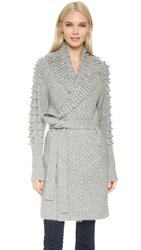 Temperley London Nell Cardigan Pale Grey
