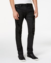 Guess Men's Rocker Studded Skinny Fit Stretch Jeans Rocker Wash W Destroy