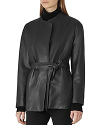 Reiss Alice Leather Wrap Jacket