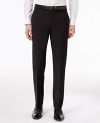 Calvin Klein Men's Extra Slim Fit Charcoal And Black Checked Core Dress Pants