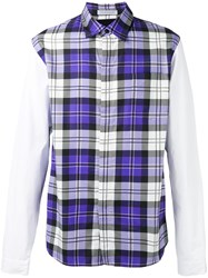 J.W.Anderson Panelled Checked Shirt Lilac