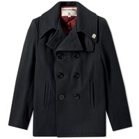 Fidelity Usn Wool Pea Coat Black