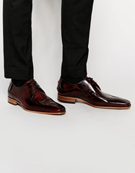 Jeffery West Leather Croc Derby Shoes Brown