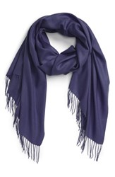 Nordstrom Tissue Weight Wool And Cashmere Scarf Navy Evening