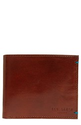 Ted Baker Men's London 'Puzzle' Leather Bifold Wallet Brown Tan