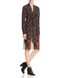 Mcq By Alexander Mcqueen Vintage Floral Lace Hem Peasant Dress