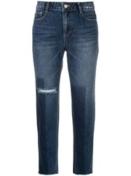 Sjyp Washed Straight Leg Jeans Blue