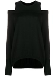 Federica Tosi Cold Shoulder Sweater Black