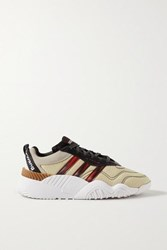 Adidas By Alexander Wang Originals Turnout Suede And Rubber Trimmed Ripstop Sneakers Ecru