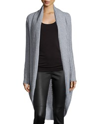 360Cashmere Cashmere Ribbed Cocoon Cardigan Heather Gray