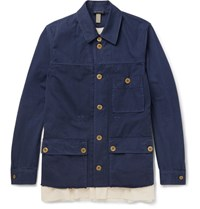 Undercover Cotton Twill Field Jacket Navy