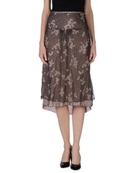 Ajay Skirts 3 4 Length Skirts Women Dark Brown