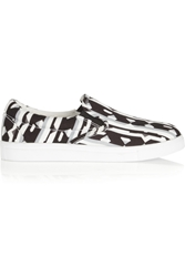 Peter Pilotto For Target Geometric Print Canvas Sneakers Black