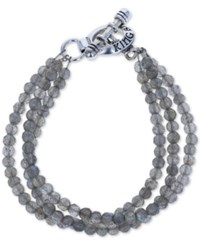 King Baby Studio Labradorite Triple Strand Toggle Bracelet In Sterling Silver