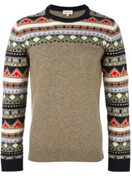 Paul And Joe Geometric Pattern Pullover Nude And Neutrals