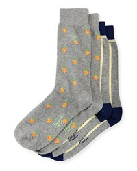 Penguin Pineapple Two Pack Sock Set Charcoal Grey Multi