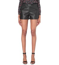 Claudie Pierlot Edmond Faux Leather Shorts Noir