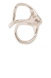 Balenciaga Brass Simple Cage Bracelet In Metallics
