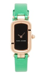 Marc Jacobs The Watch Rose Gold Black Green