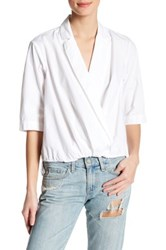 Michael Stars Surplice Collared Blouse White