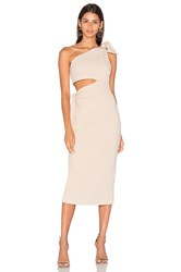 Misha Collection Stefania Suede Dress Beige