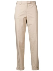 Alberto Biani Slim Fit Trousers Neutrals