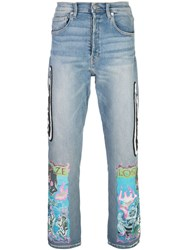 Lost Daze Wing Trip Loose Fit Jeans Blue