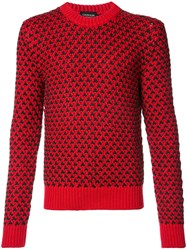 Calvin Klein 205W39nyc Chunky Knit Jumper Acrylic Wool Red