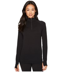 Hot Chillys Mtf Solid Zip T Black Women's Clothing