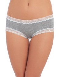 Design Lab Lord And Taylor Lace Trim Hipster Heather Grey