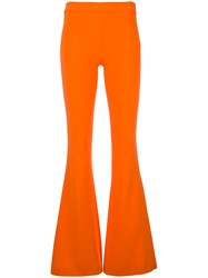 Moschino Slim Flared Trousers Yellow Orange
