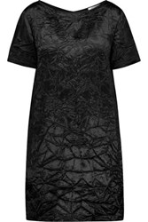 Nina Ricci Crinkled Satin Mini Dress Black