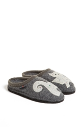 Haflinger 'Cat' Slipper Grey