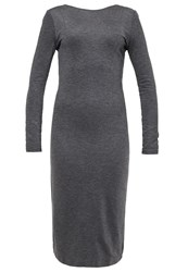 Selected Femme Sfsasha Jersey Dress Dark Grey Melange Mottled Dark Grey