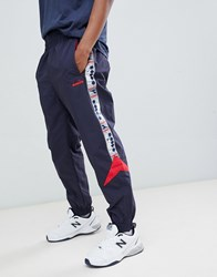 Diadora Pannelled Track Joggers Mvb In Navy