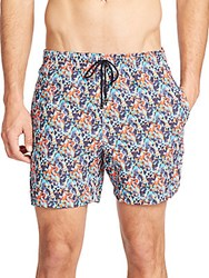 Saks Fifth Avenue Tropical Print Swim Trunks Assortment