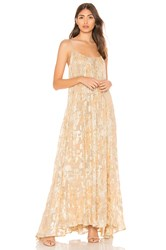 Mes Demoiselles Aspasie Slip Dress Metallic Gold
