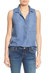 Women's Thread And Supply 'Dixie' Chambray Sleeveless Shirt Medium Wash
