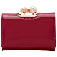 Ted Baker Alix Leather Patent Purse Dark Red