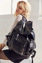 Le Sport Sac Lesportsac Voyager Faux Patent Backpack Black