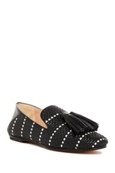 Derek Lam Palazzo Woven Tassel Smoking Slipper Black