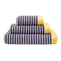 Joules Kensington Stripe Towel Navy Blue Yellow