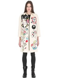 Patricia Field Art Fashion Suzan Pitt Hand Painted Coat W Sequins